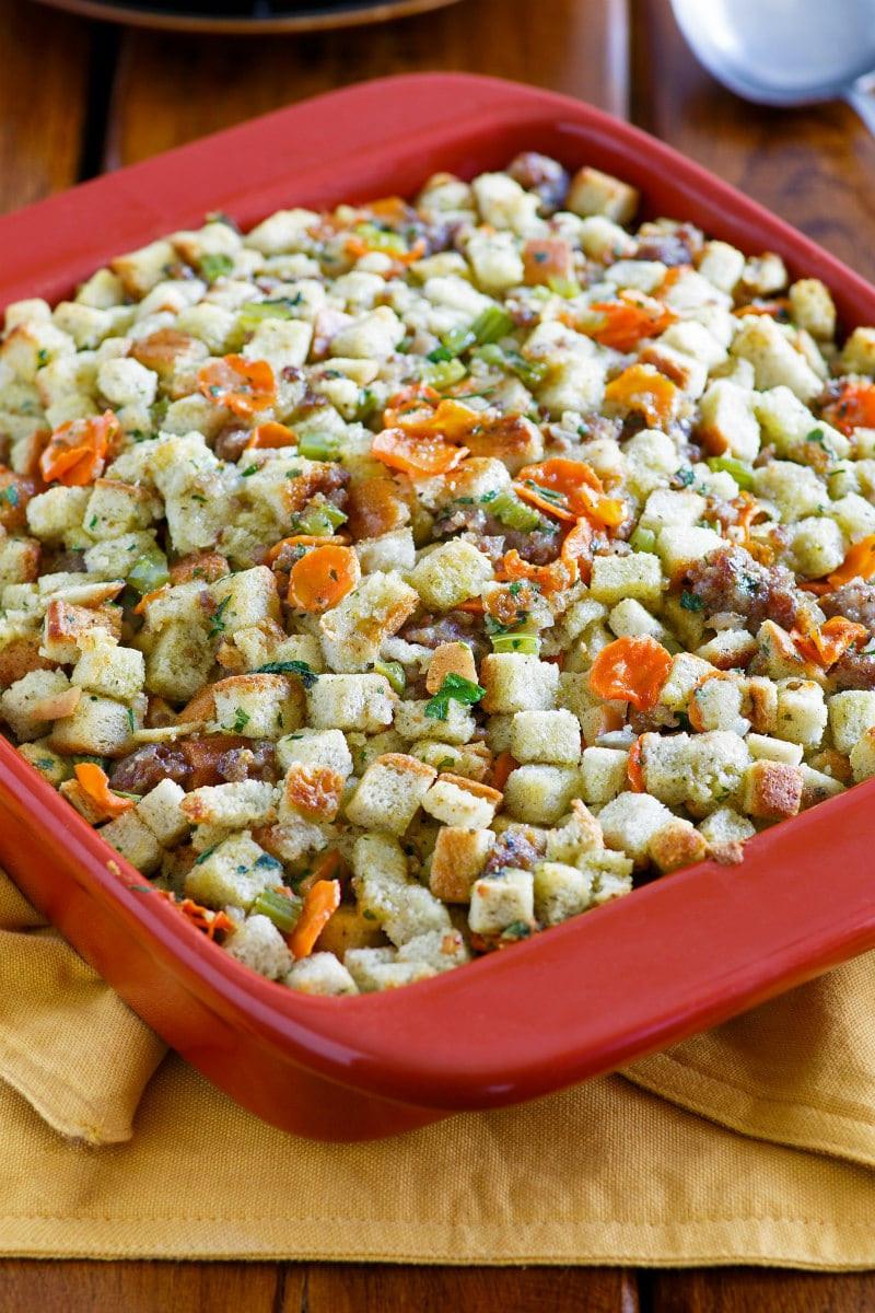 Low Fat Thanksgiving Recipes  Low Fat Sausage Stuffing Recipe Girl