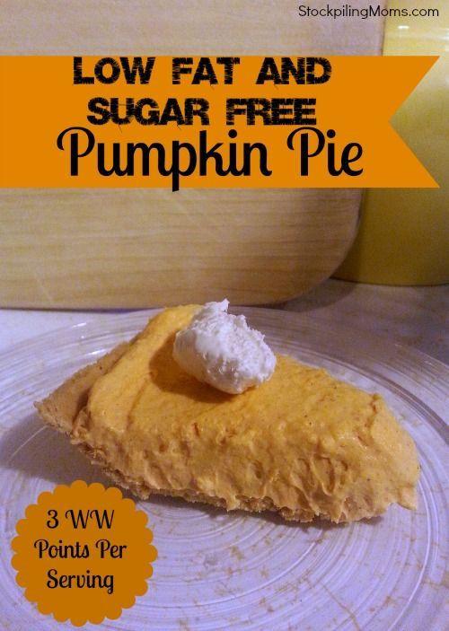 Low Fat Thanksgiving Recipes  Low Fat Pumpin Pie Recipe