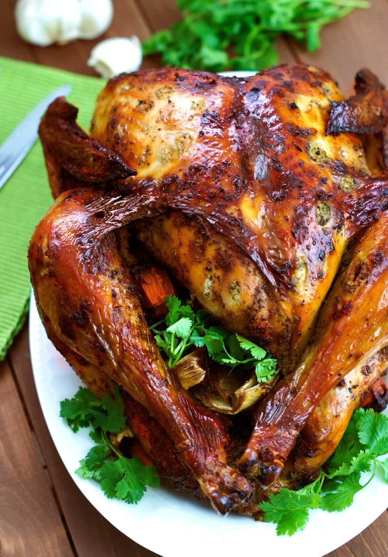 Marinated Thanksgiving Turkey  Latin Style Turkey With Mojo and Sazón Achiote