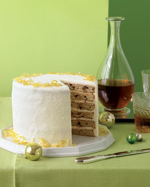 Martha Stewart Christmas Desserts  Layered Fruitcake with Creme Fraiche Frosting