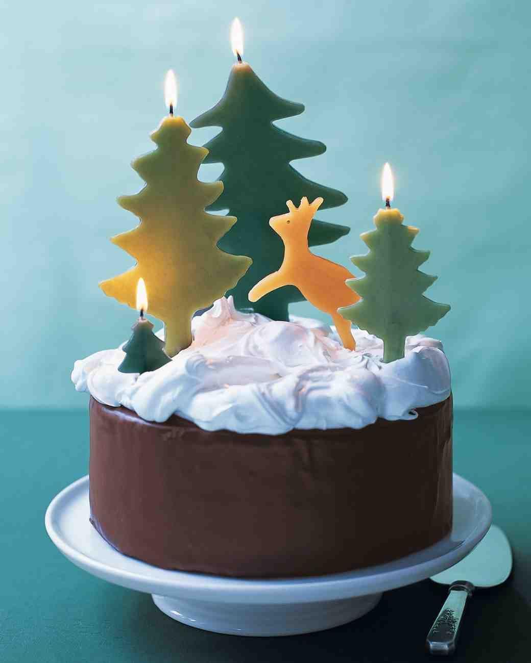 Martha Stewart Christmas Desserts  Chocolate Cake with Snowy Meringue Recipe