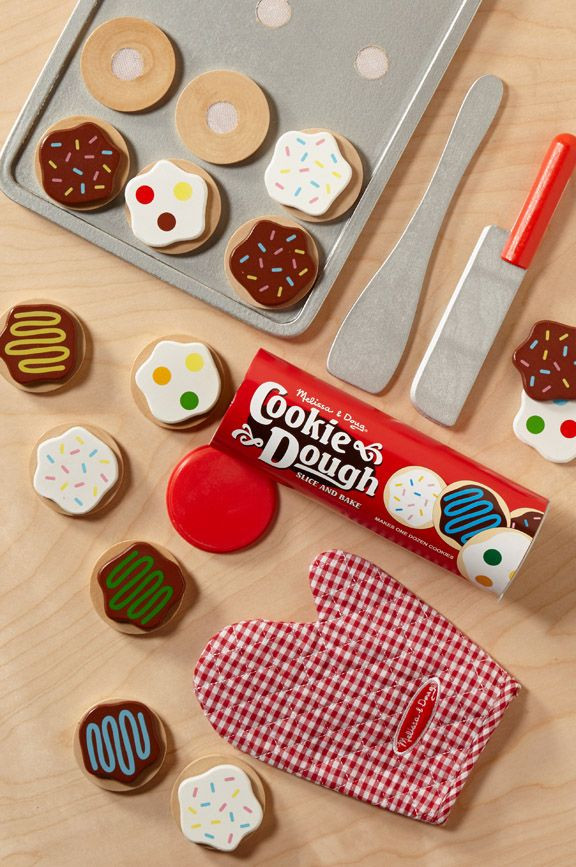 Melissa And Doug Christmas Cookies  Slice and Bake Cookie Set Wooden Play Food