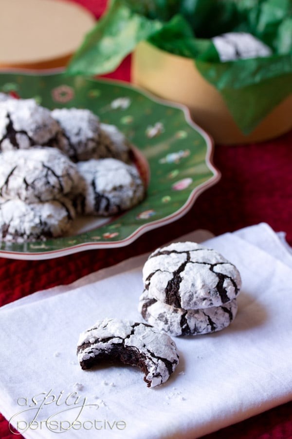 Mexican Christmas Cookies Recipe  Mexican Mocha Crinkle Cookies A Spicy Perspective