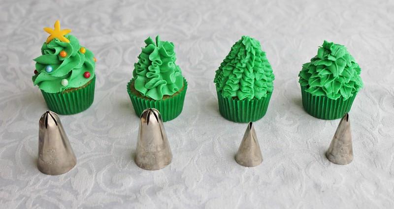 Mini Christmas Cupcakes  Lydia Bakes Mini Christmas Tree Cupcakes