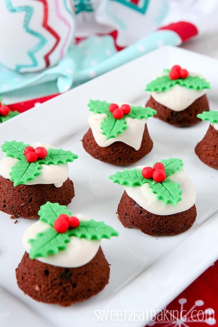 Mini Christmas Cupcakes  Mini Christmas Pudding Cupcakes Recipe