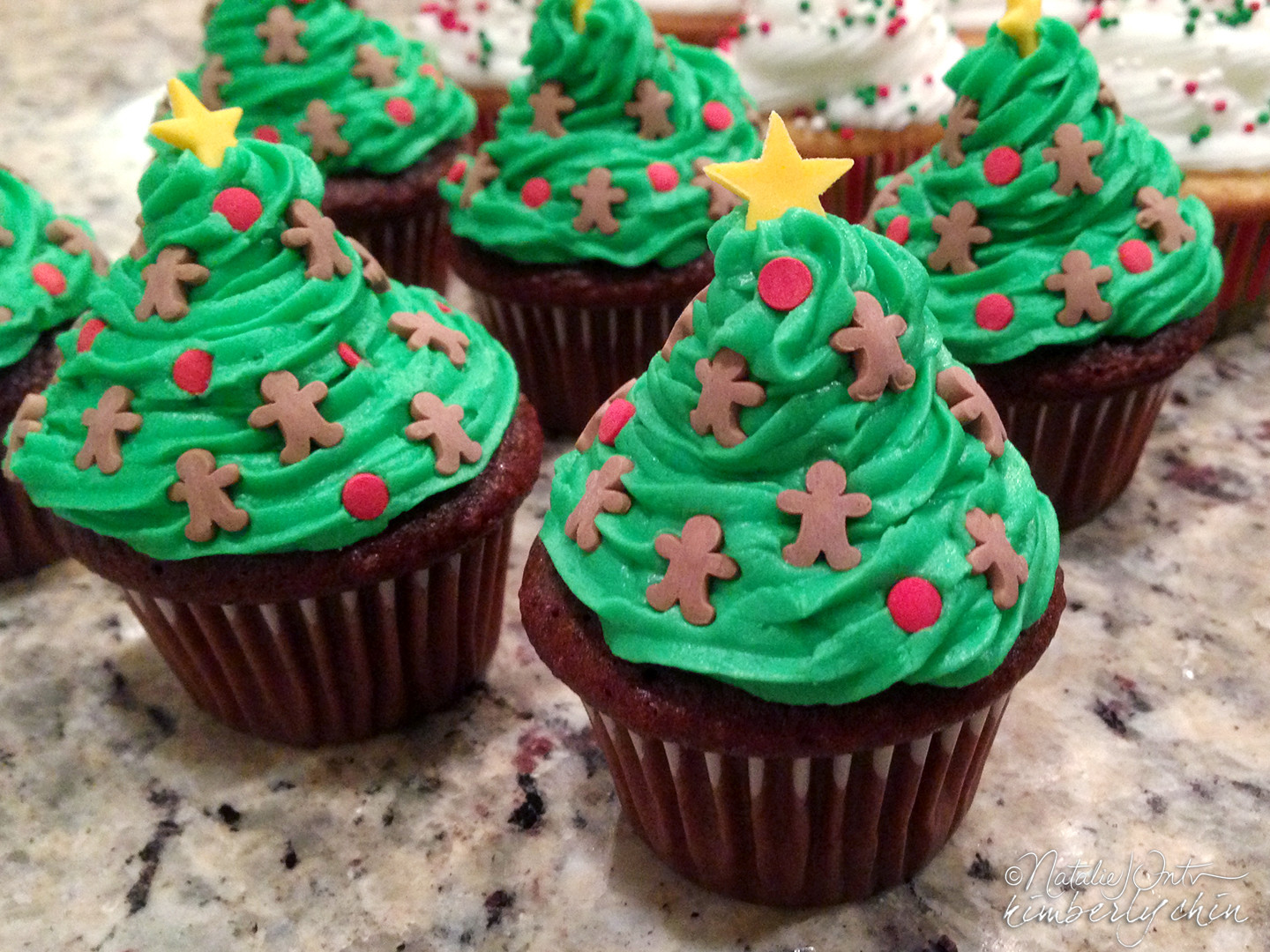 Mini Christmas Cupcakes  Mini Christmas Cupcakes by Kim and Nat