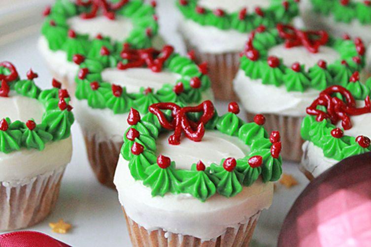Mini Christmas Cupcakes  Mini Christmas Wreath Cupcakes Recipe on Food52