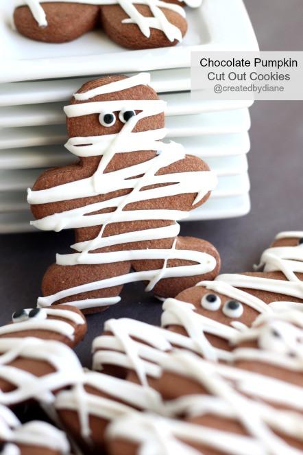 Mummy Cookies For Halloween  Chocolate Mummy Cookies