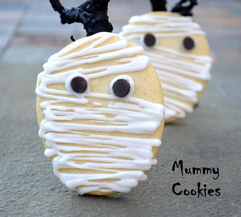 Mummy Cookies For Halloween  Eyeballs You Can Eat for Halloween Souffle Bombay