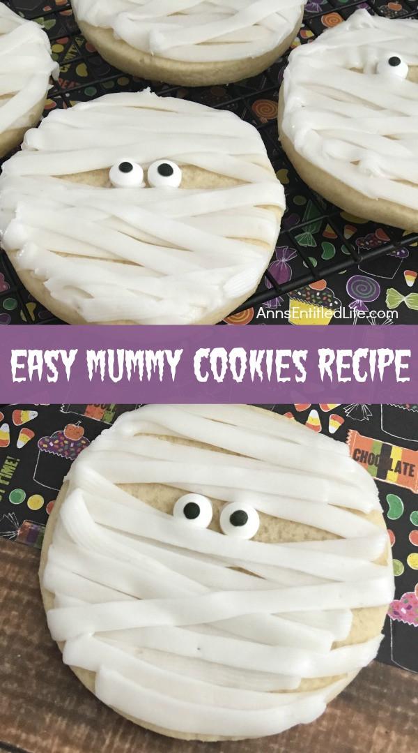 Mummy Cookies For Halloween  Mummy Cookies Recipe