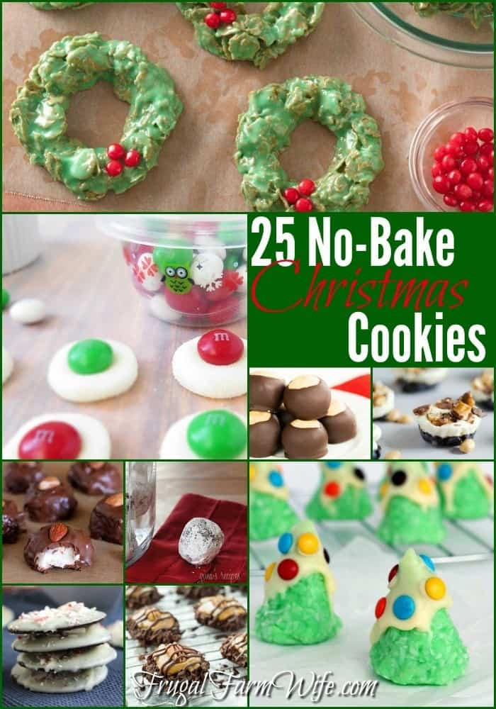 No Bake Christmas Tree Cookies  25 No Bake Christmas Cookies