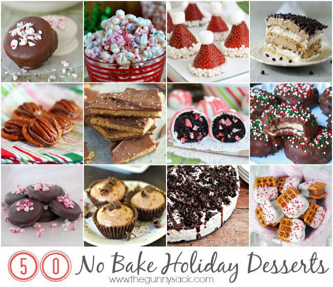 No Baking Christmas Treats  No Bake Holiday Dessert Recipes Dessert time