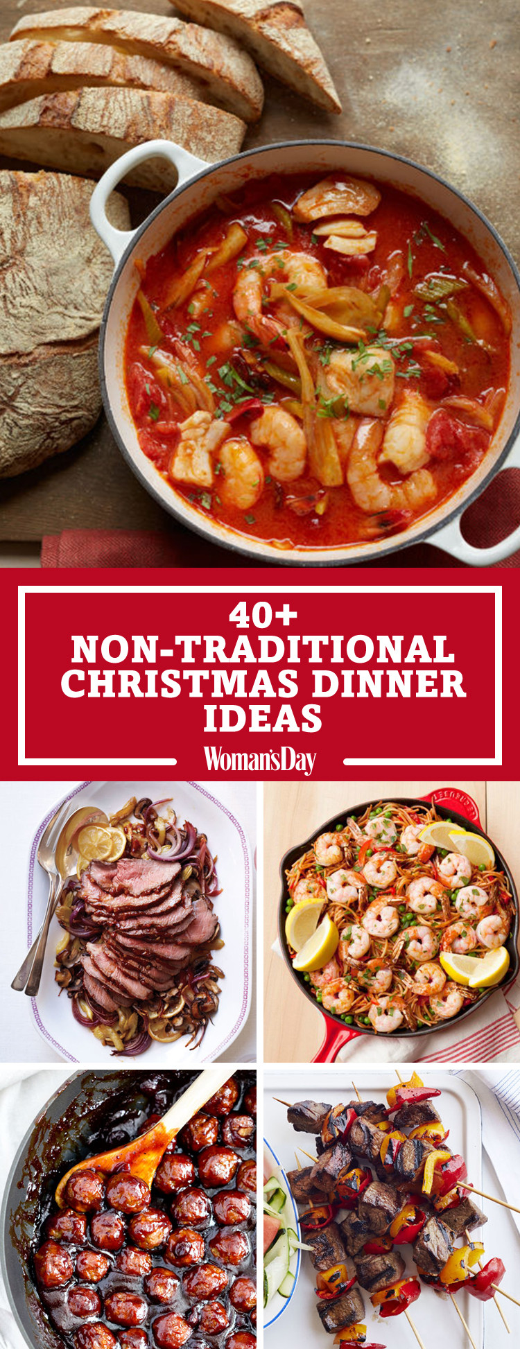 Non Traditional Thanksgiving Dinner Ideas  40 Easy Christmas Dinner Ideas Best Recipes for