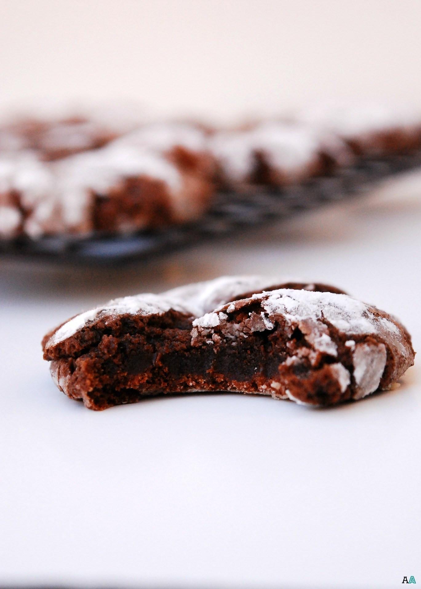 Nut Free Christmas Cookies  Christmas Chocolate Peppermint Crinkle Cookies GF Vegan