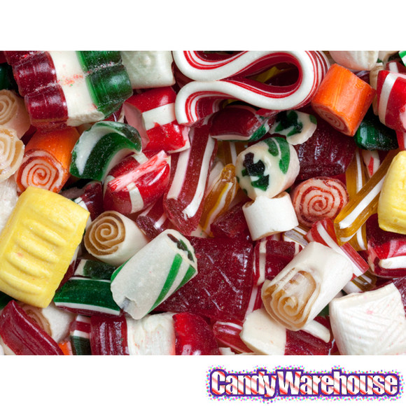 Old Christmas Candy  Old Time Christmas Mix Candy 16 Ounce Tin