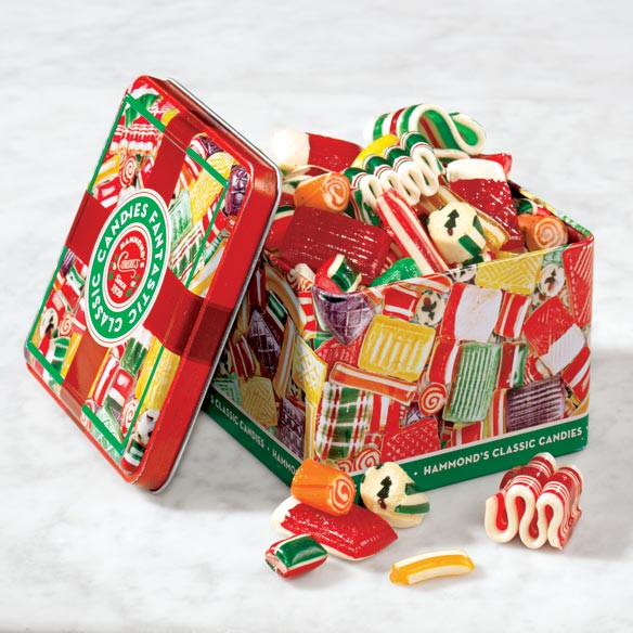 Old Fashioned Christmas Candy  Hammond s Old Fashioned Christmas Candy Tin Miles Kimball