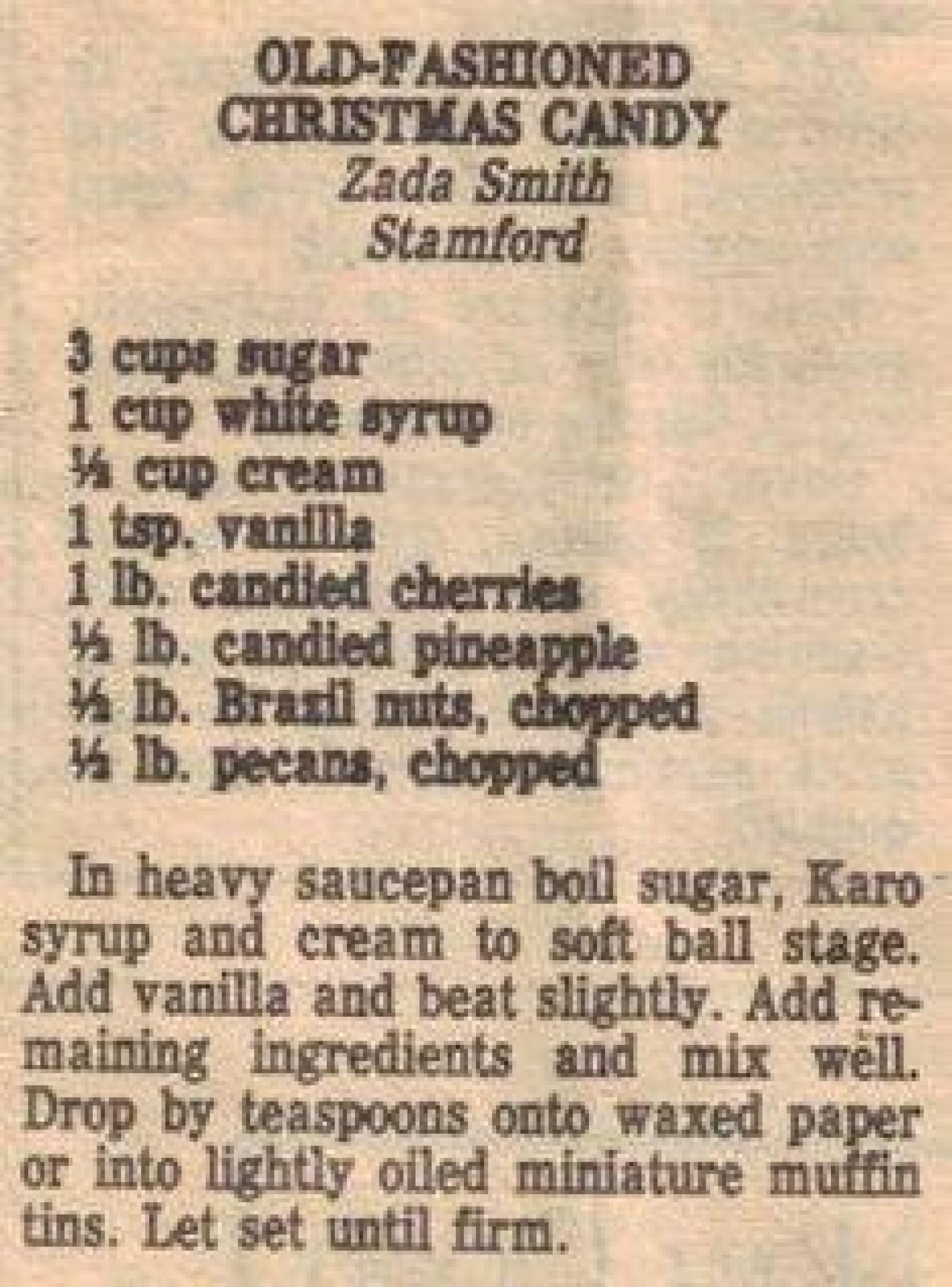 Old Fashioned Christmas Candy Recipes  Old Fashioned Christmas Candy Recipe