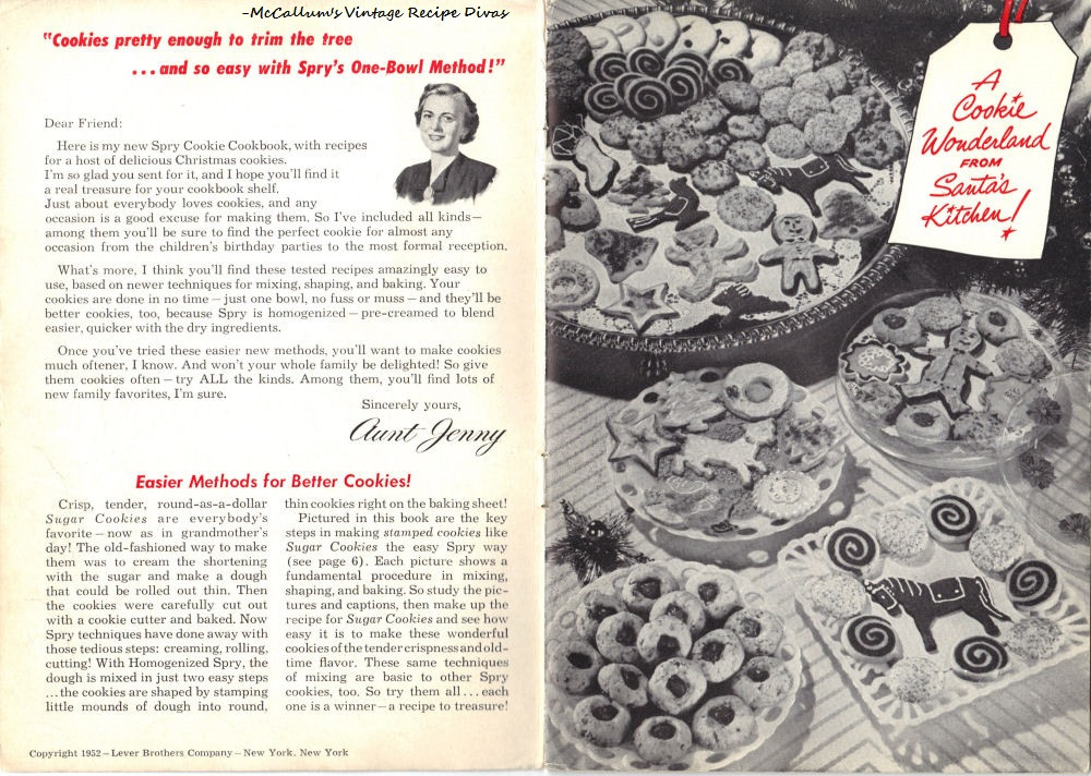 Old Fashioned Christmas Cookies Recipe  Aunt Jenny's Old Fashioned Christmas Cookies Recipe Book