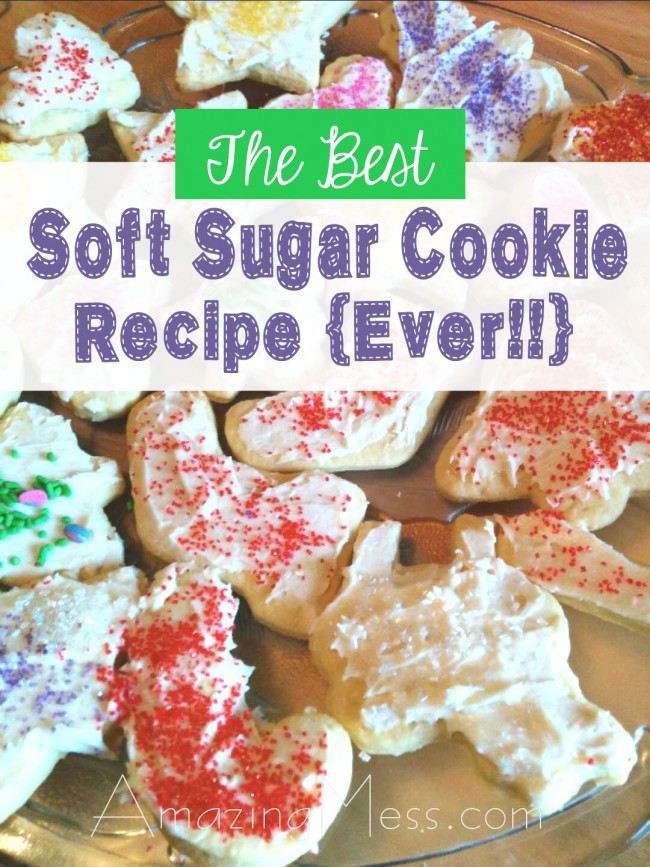 Old Fashioned Christmas Cookies Recipe  The Best Soft Sugar Cookie Recipe Ever