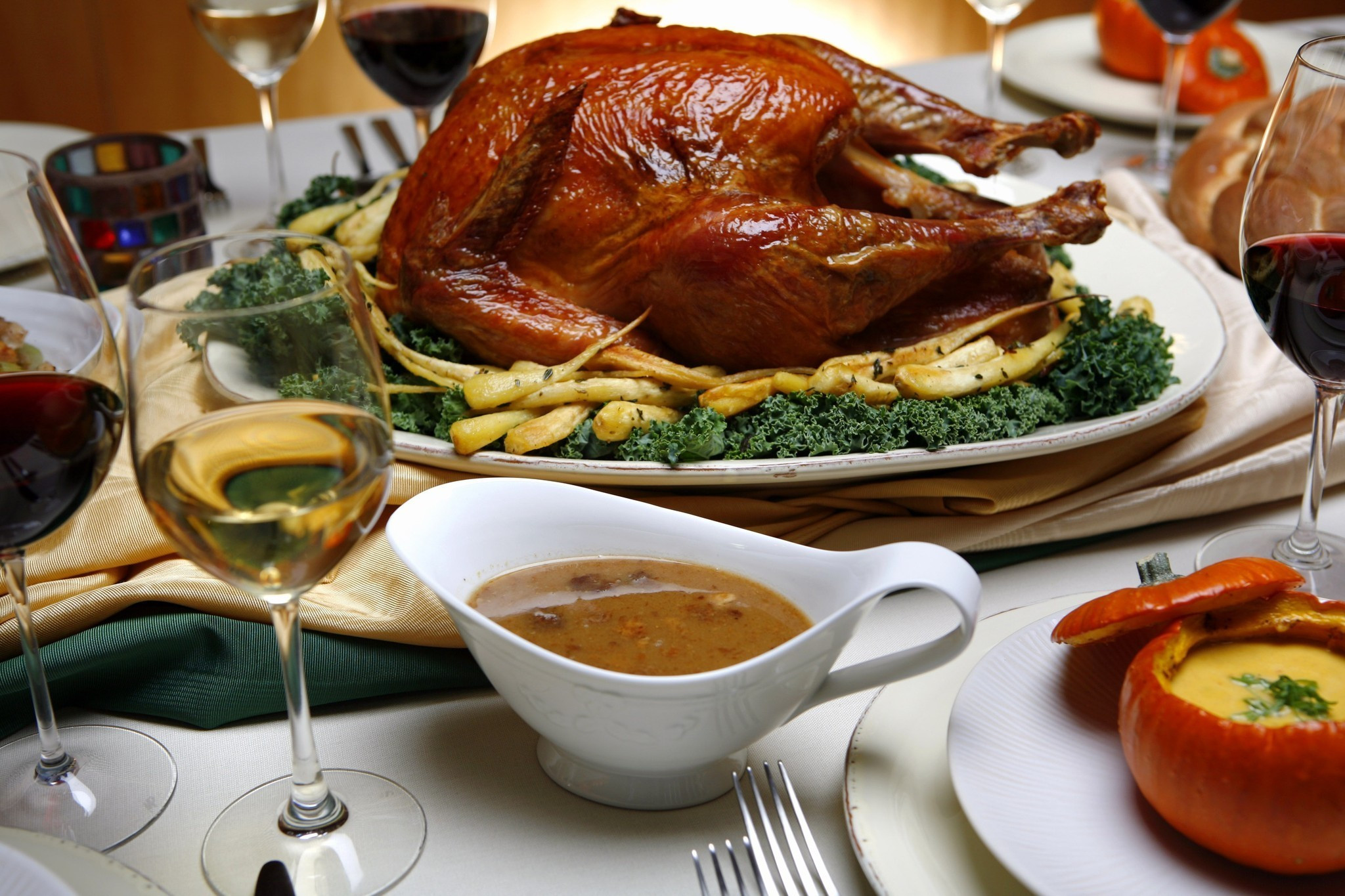 Order Cooked Thanksgiving Turkey  To go and dine in options in L A for those saying no no