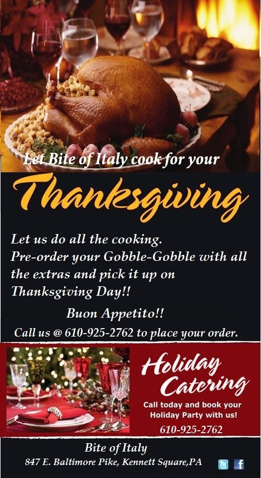 Order Cooked Thanksgiving Turkey  Skip the Cooking This Holiday Book Bite of Italy to Cook