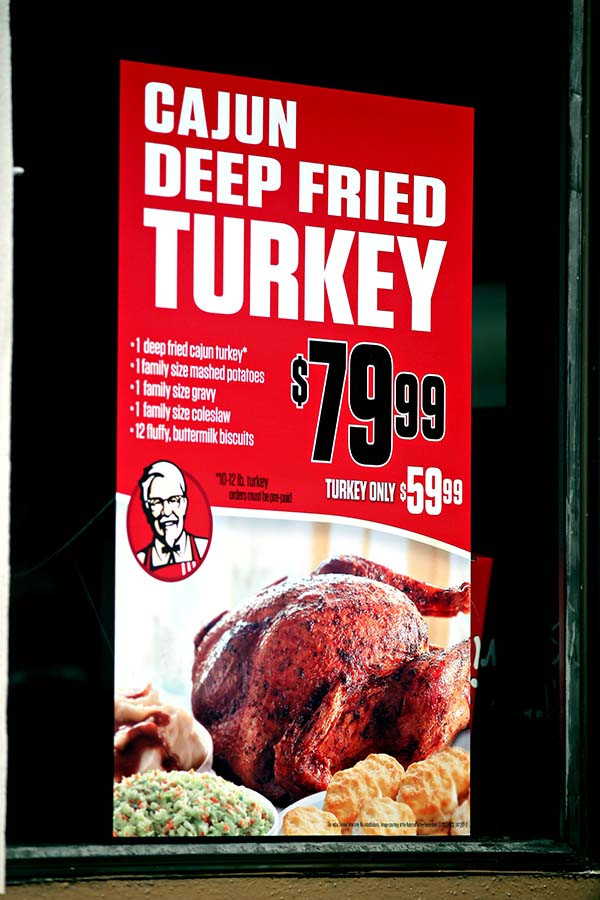 Order Fried Turkey For Thanksgiving  kentucky fried chicken San Francisco Citizen