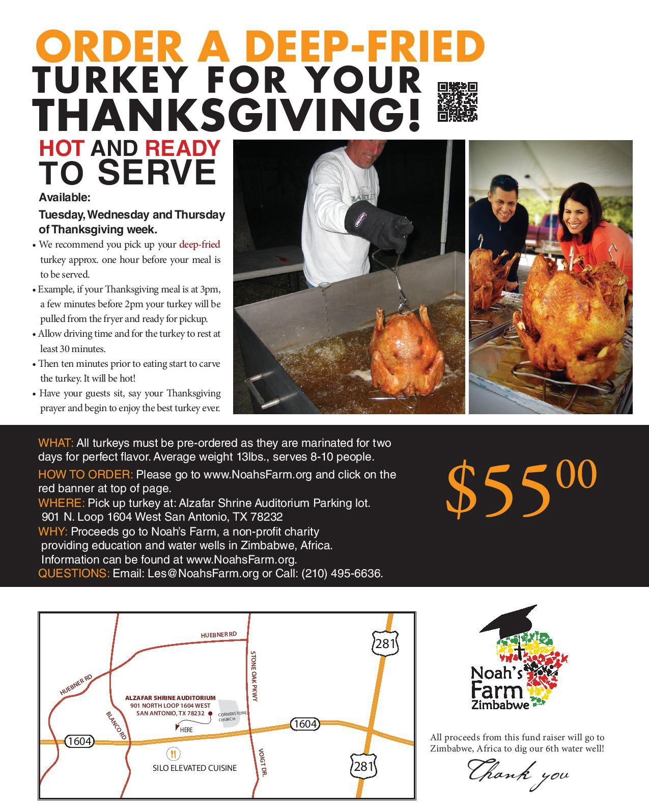 Order Fried Turkey For Thanksgiving  Order Deep Fried Turkeys Noahs Farm