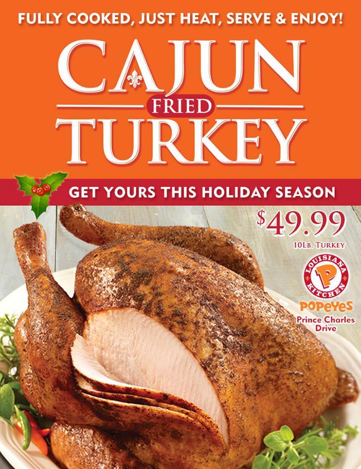 Order Fried Turkey For Thanksgiving  Popeyes Bahamas Nassau Nassau Paradise Island Bahamas