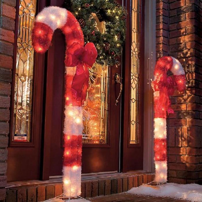 Outdoor Christmas Candy Canes  Outdoor Christmas Decor Ideas