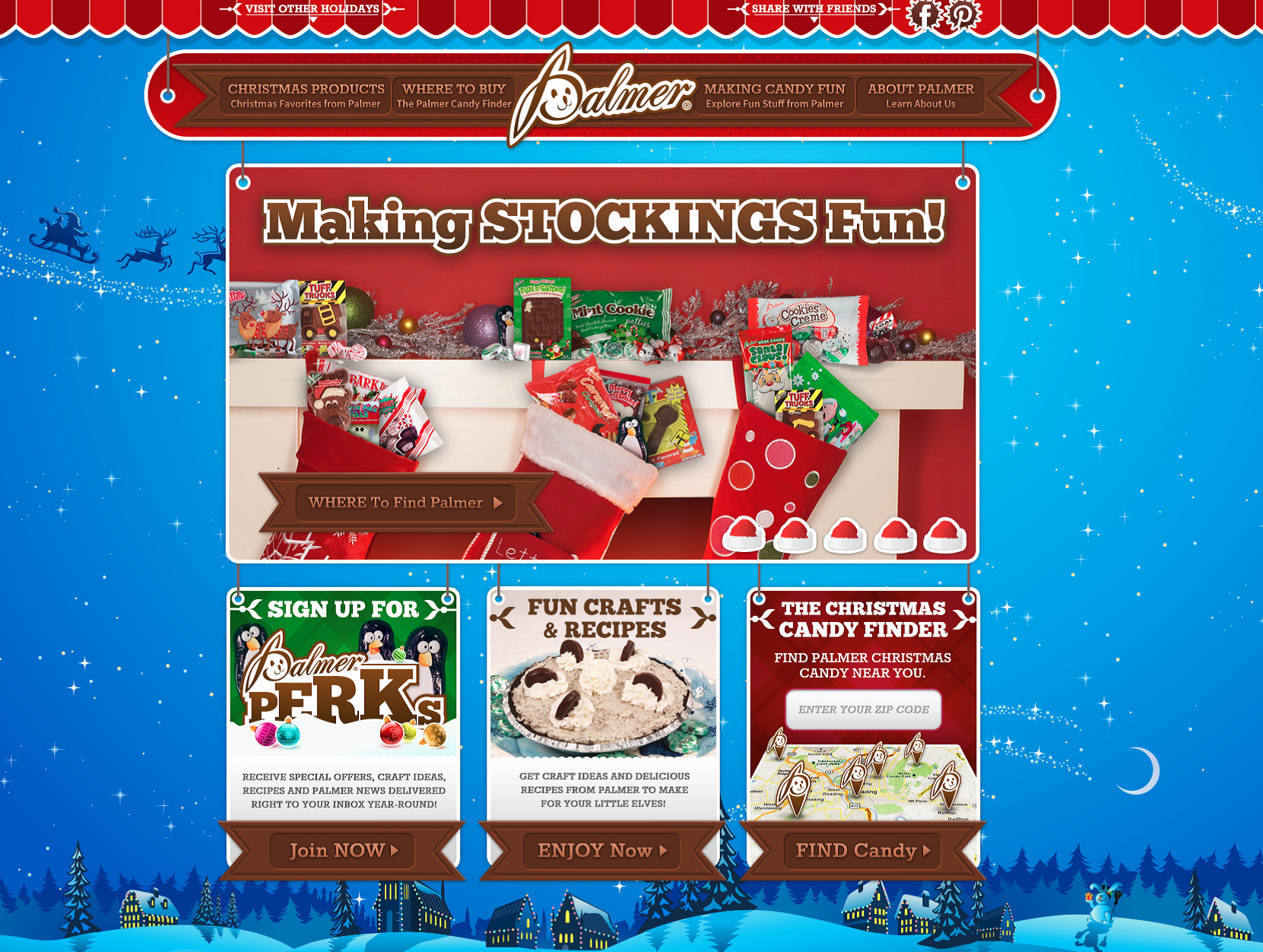 Palmer Christmas Candy  RM Palmer pany Launches Christmas Website