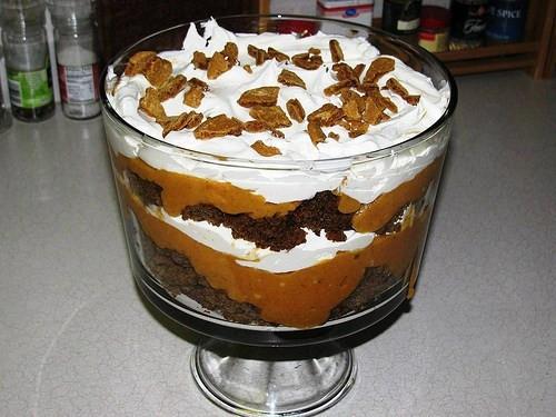 Paula Deen Turkey Recipes For Thanksgiving  Paula Deen s Pumpkin Gingerbread Trifle