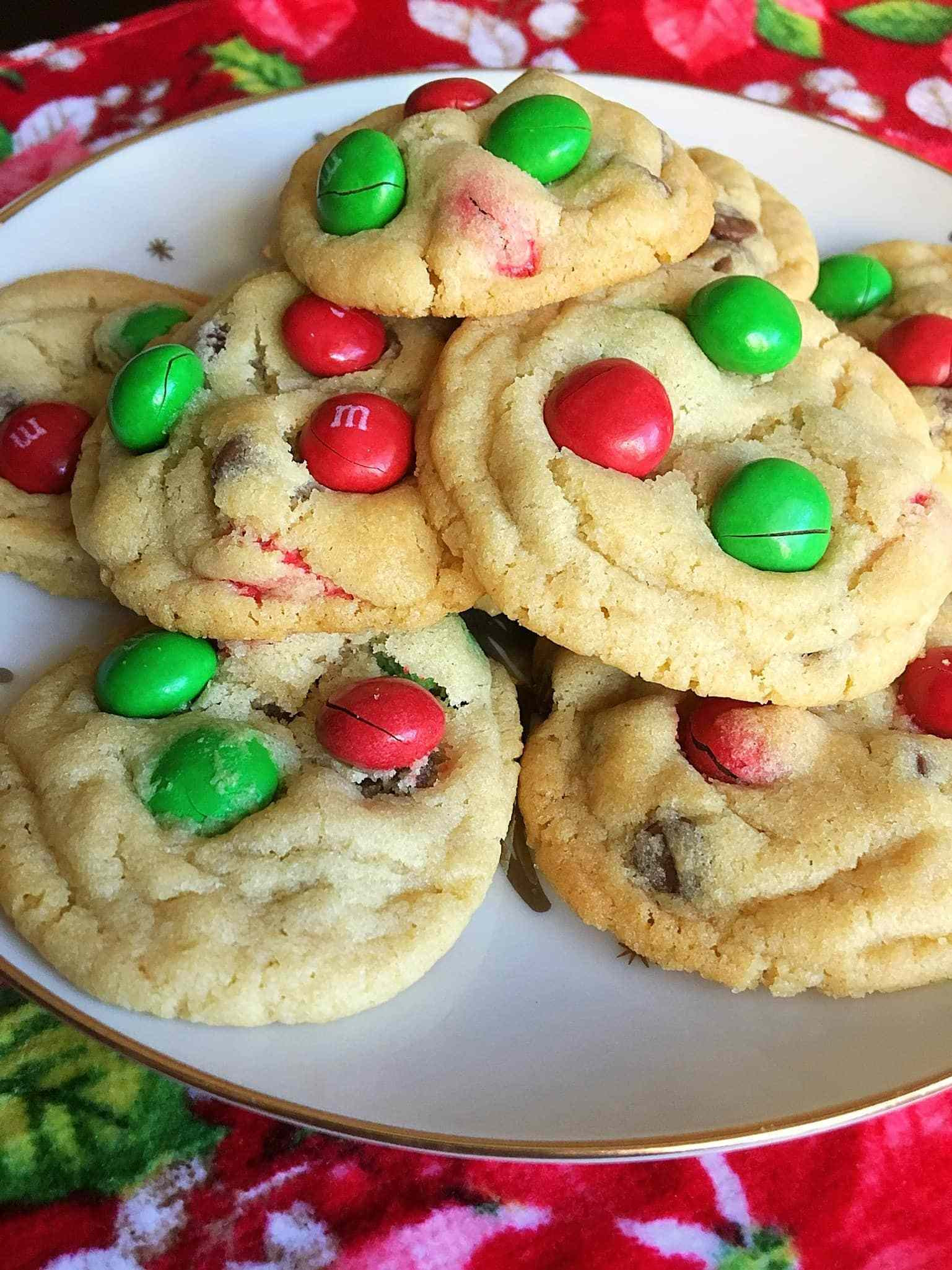 Peanutbutter Christmas Cookies  Magical Peanut Butter M&M Christmas Cookies Kindly Unspoken