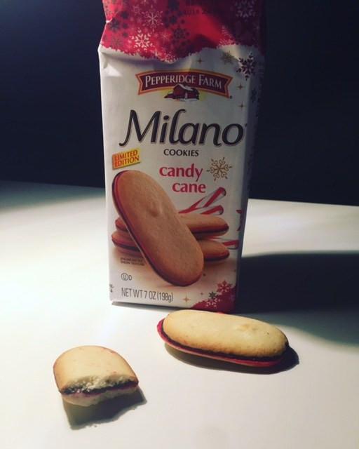 Pepperidge Farms Christmas Cookies  REVIEW x2 Pepperidge Farm Candy Cane Milano & Milano