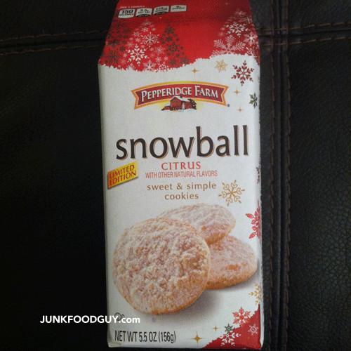 Pepperidge Farms Christmas Cookies  Review Pepperidge Farm Limited Edition Snowball Citrus