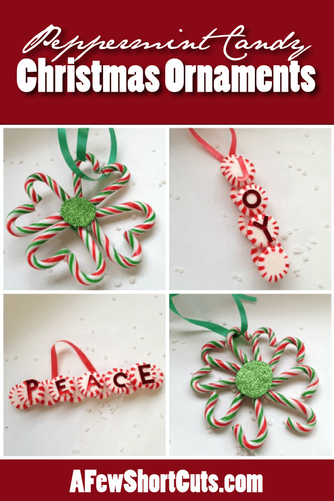 Peppermint Candy Christmas Ornaments  Peppermint Candy Christmas Ornaments A Few Shortcuts