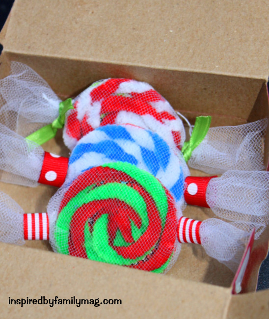Peppermint Candy Christmas Ornaments  Easy Christmas Ornament Craft Peppermint Candy Inspired