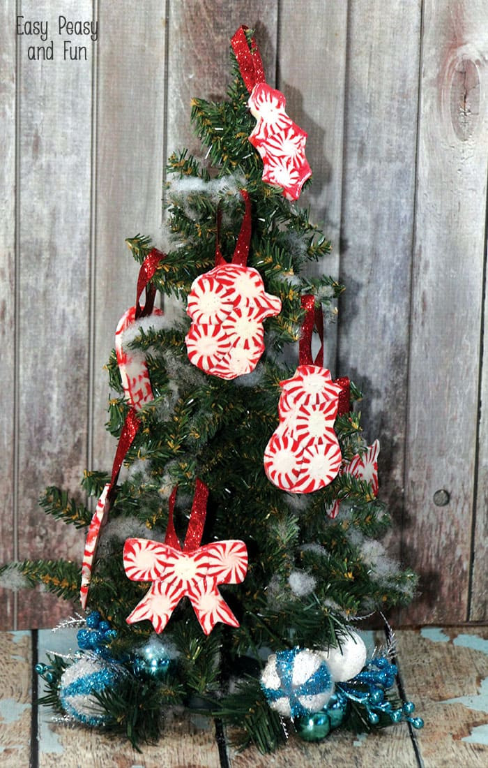 Peppermint Candy Christmas Ornaments  Peppermint Candy Ornaments DIY Christmas Ornaments