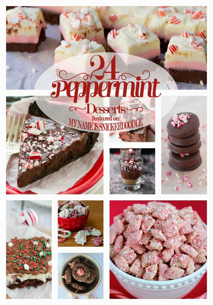 Peppermint Desserts Christmas  My Name Is Snickerdoodle Peppermint Dessert Recipes For