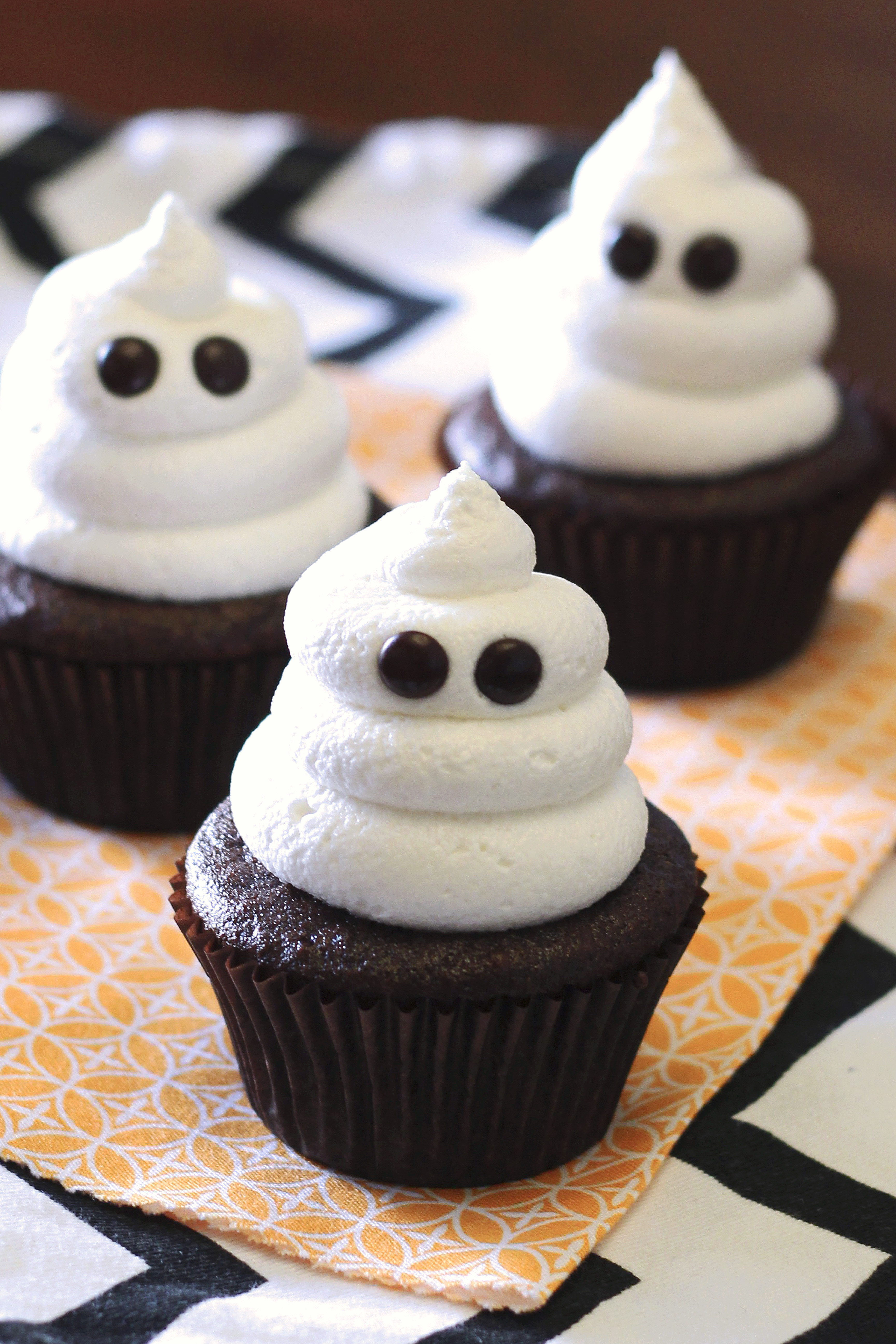 Picture Of Halloween Cupcakes  gluten free vegan ghost cupcakes Sarah Bakes Gluten Free