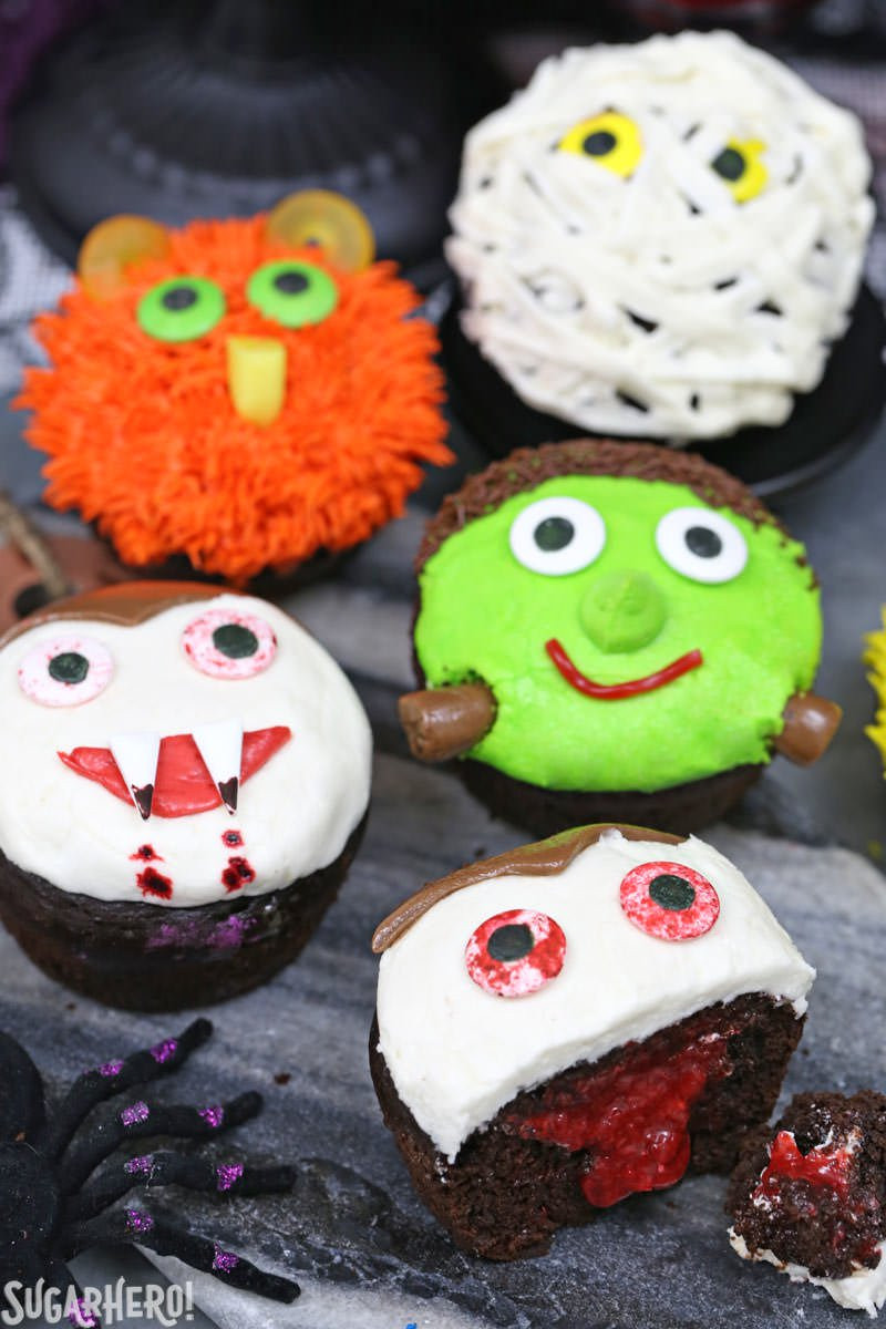 Picture Of Halloween Cupcakes  Stuffed Halloween Cupcakes SugarHero