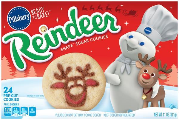 Pillsbury Ready To Bake Christmas Cookies  pillsbury cookie dough christmas