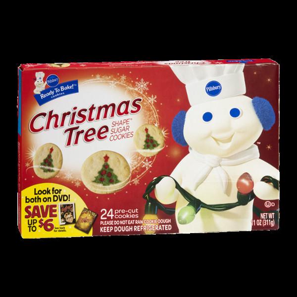 Pillsbury Ready To Bake Christmas Cookies  Pillsbury Ready to Bake Christmas Tree Shape Sugar Cookies