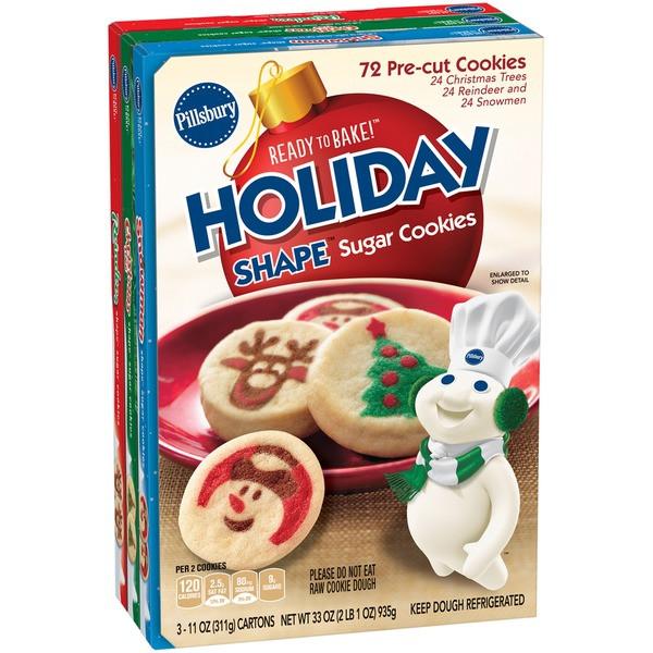 Pillsbury Ready To Bake Christmas Cookies  Holiday Sugar Cookies Pillsbury House Cookies