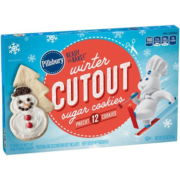 Pillsbury Ready To Bake Christmas Cookies  Pillsbury Ready to Bake Pre Cut Holiday Sugar Cookies