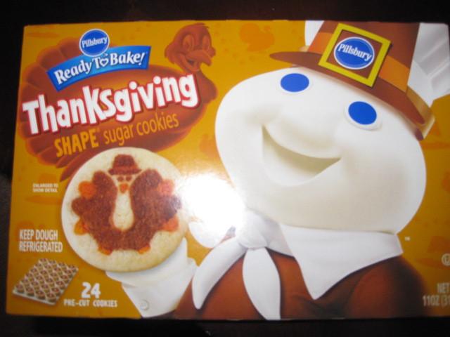 Pillsbury Ready To Bake Christmas Cookies  Pillsbury Ready to Bake ™ Thanksgiving Shape Sugar