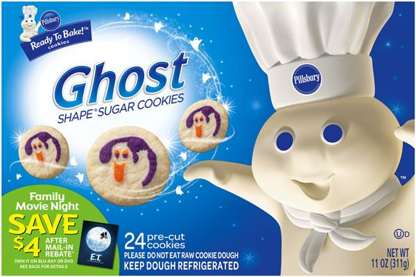Pillsbury Ready To Bake Christmas Cookies  Pillsbury Ready to Bake Ghost Shape Sugar Cookies 24 ct