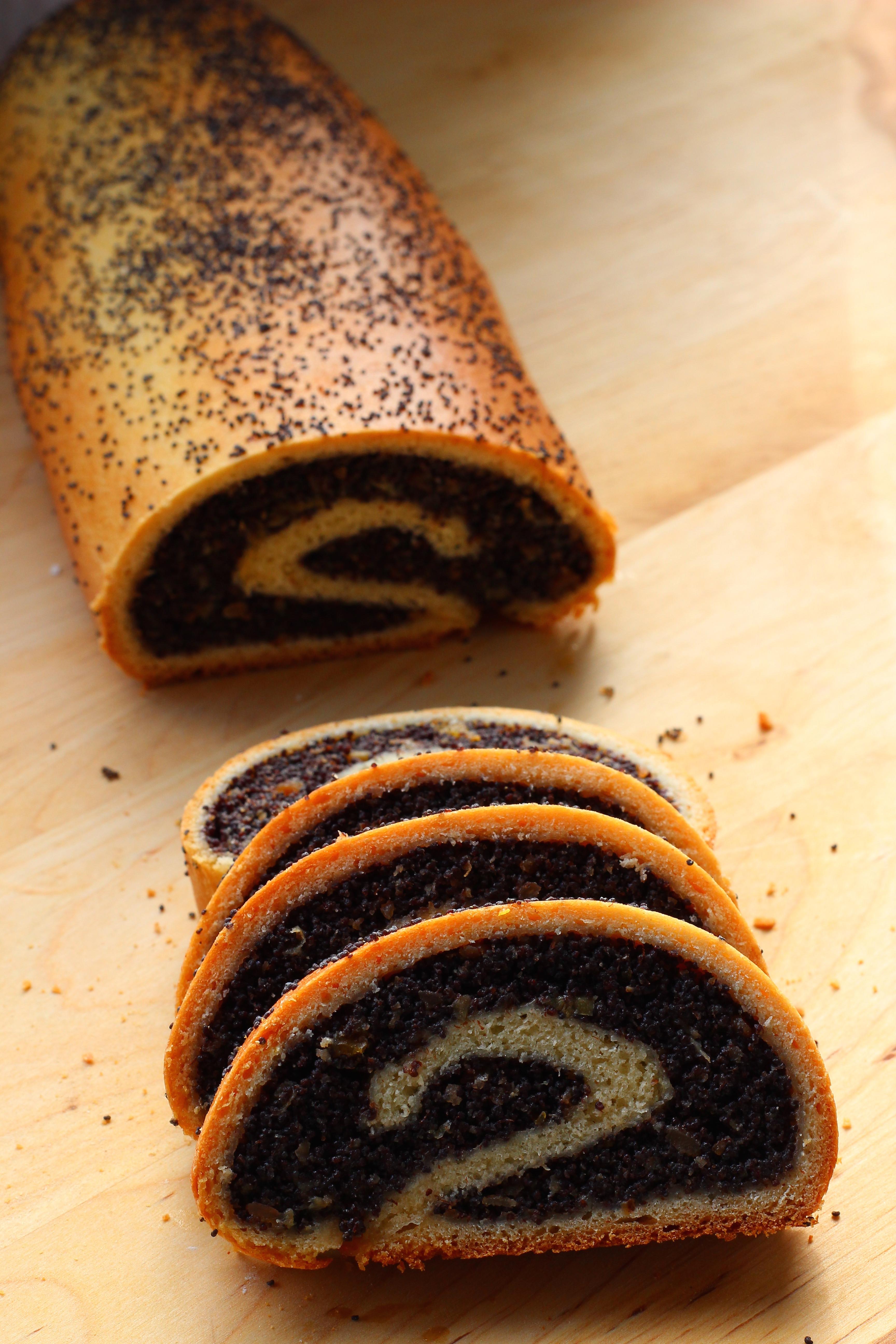 Polish Christmas Bread  Makowiec Polish Poppy Seed Bread Sweet Cinnamon & Honey