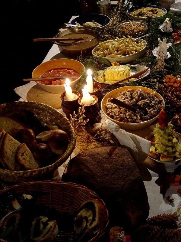 "Polish Christmas Dinner  ""Wigilia traditional Christmas Eve supper in Poland"