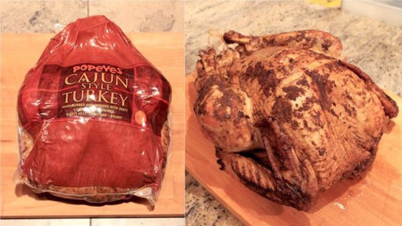 Popeyes Thanksgiving Turkey  Popeyes Cajun turkey is tastier than whatever you re