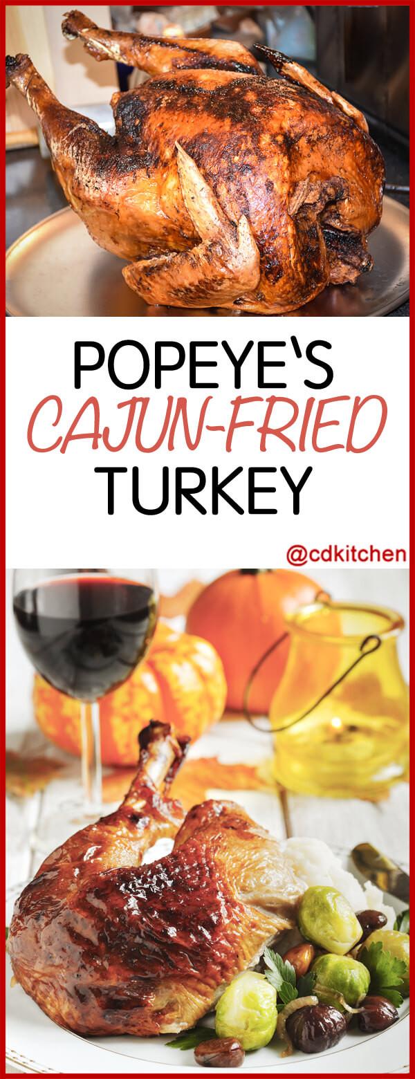 Popeyes Thanksgiving Turkey  Copycat Popeye s Cajun Fried Turkey Recipe